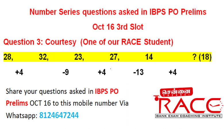 Important Quetions asked in IBPS PO 2016 – Chennai RACE Coaching Institute (1)