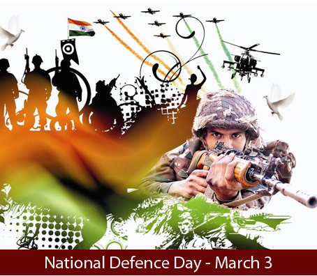 National Defence Day (India) - March  03  IMAGES, GIF, ANIMATED GIF, WALLPAPER, STICKER FOR WHATSAPP & FACEBOOK