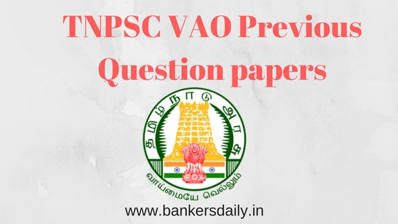 TNPSC VAO Previous Year Question Papers - download as PDF -