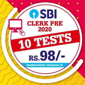SBI CLERK Prelims 2020 - Online Mock Test Series